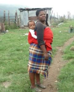 Xhosa vrouw met kind