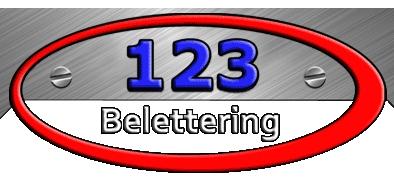 123belettering